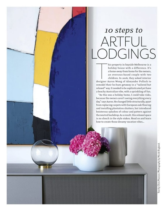 House And Garden feature - 10 steps to Artful Lodgings