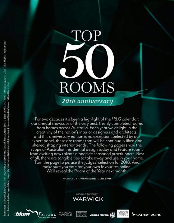 House and garden - Top 50 rooms - 20th Anniversary
