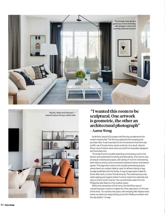 interior designer Allexander Pollock - HOME DESIGN - The Annual Collector's Issue