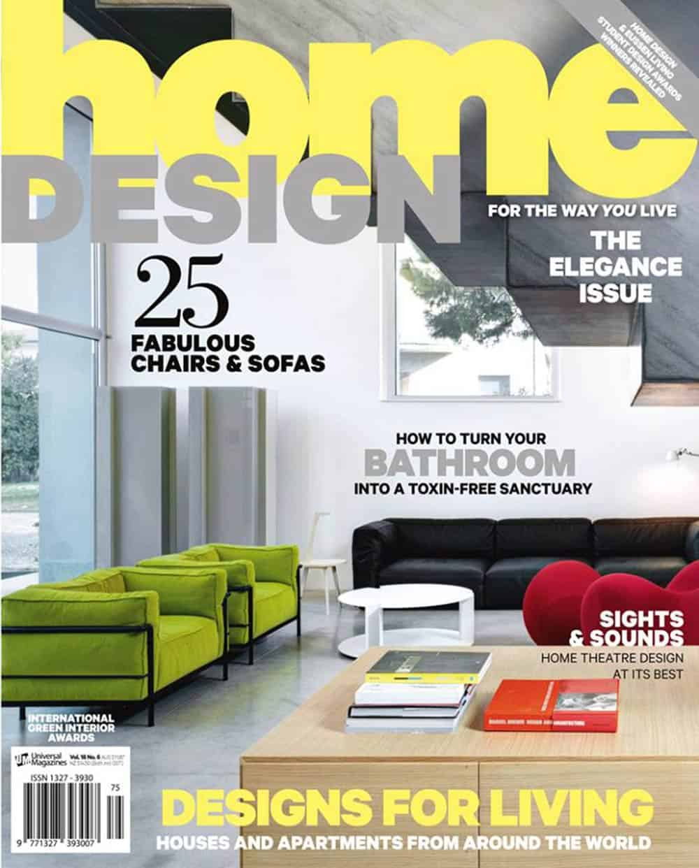 Alexander Pollock in Home Design Magazine - Volume 18 Issue 6 - 2015