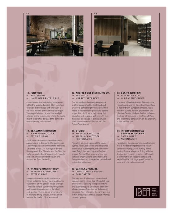 Inside Magazine Shortlist - The 184 Best Australian Interiors