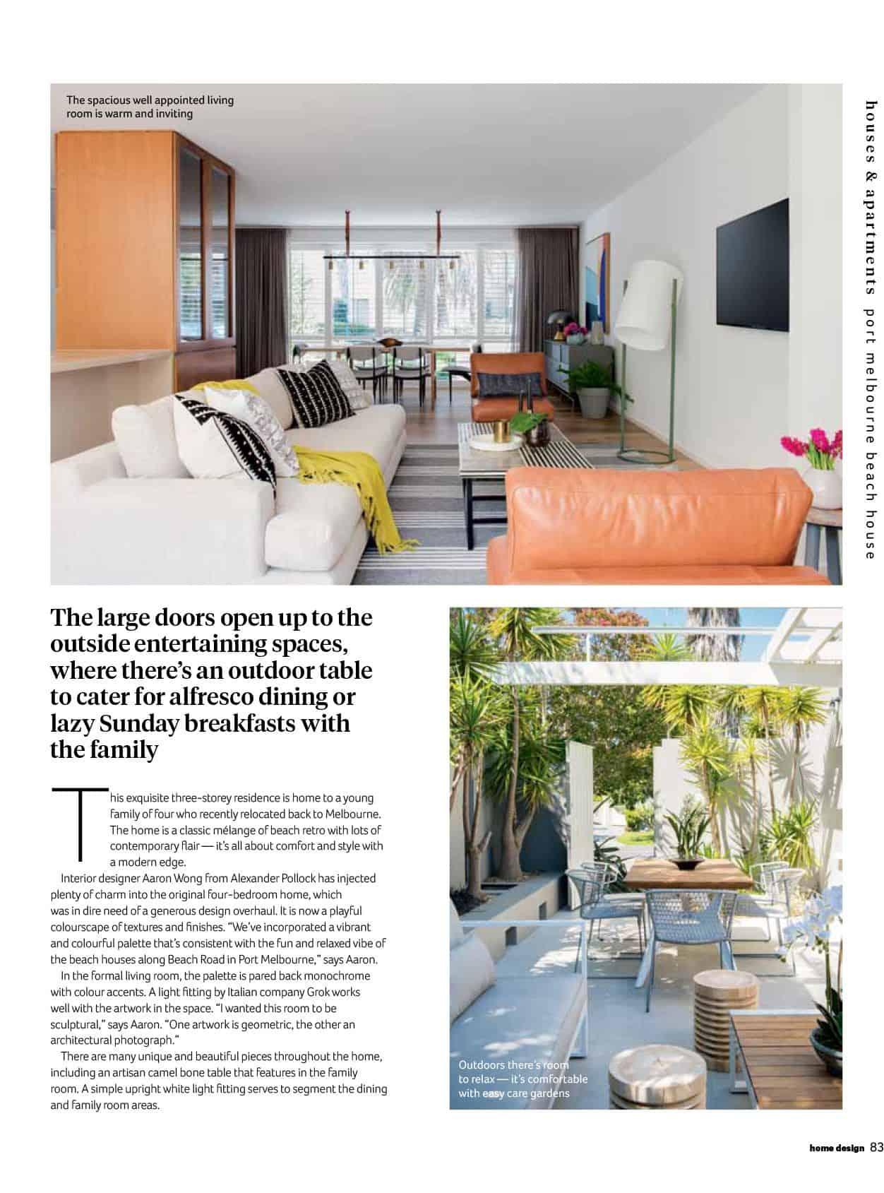 Alexander Pollock in Home Design Magazine - Volume 21 Issue 1 - 2018